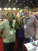 "Me and Brittany with supercool comic rockstar Jimmy Palmiotti. He took time to offer some good advice to Brittany in regards to getting ""into"" the acting business."