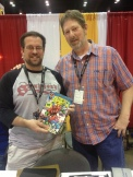 Me with Paul Pelletier holding a copy of DEMON'S TAILS, a mini-series that I wrote and he drew...oh so long ago.