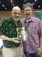 Me with George Perez. He's holding a copy of Genesis #0 for which he did the cover. An anthology, I wrote one story (drawn by Jimmy Palmiotti) and edited the others.