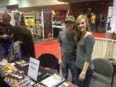 Brett and Brittany doing table duty at the show. I didn't realize they color-coordinated until looking at the picture.