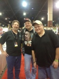 Me with Thomas Florimonte and Barry Gregory. I've known Barry since the 6th grade. We were creating comics together by the 7th. Yes, they were on notebook paper, but still!